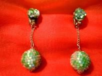 Vintage Unique Green Dangly Earrings