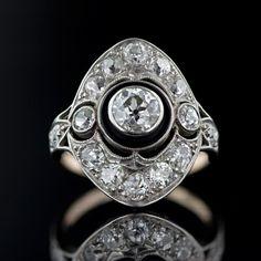 Edwardian Diamond Dinner Ring  Edwardian Jewelry