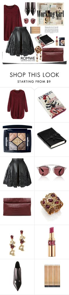 """Untitled #81"" by aurora8918 ❤ liked on Polyvore featuring Christian Dior, Ermanno Scervino, Marie Turnor, Oscar de la Renta, Yves Saint Laurent, Sweater, Work, romwe and girl"