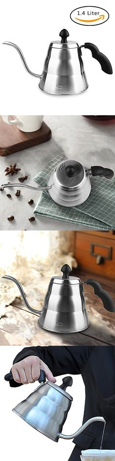 GULUBLOG Pour Over Gooseneck Coffee Kettle 1.4L Stainless Steel Drip Pot for Coffee & Tea