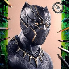 Black Panther drawing by Adam Bettley