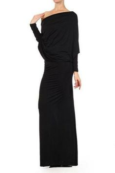 How amazing and sleek is this dress!  Super smooth and slinky jersey maxi dress is reversible and convertible.  Wear the plunging neckline in the front for super cleavage..or wear it as an open sexy back.  You can wear it off either shoulder, tied as a halter around your neck, or on one shoulder. So much fun!