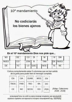 142 Mejores Imagenes De 10 Mandamientos Catechism Teaching Y