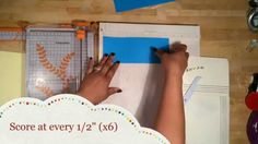 tutorial mini album (memory folio: pouch) ♥For Kona Raven's photo folio