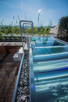 Beautiful photo of stainless steel pool Imaginox Jacuzzi, Tub, Stainless Steel, Outdoor Decor, House, Beautiful, Home Decor, Luxury Swimming Pools, Pool Ideas