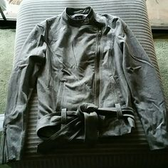 """""""CLEARANCE"""" Armani Exchange blazer Gorgeous Armani Exchange blazer, like new condition.  Beautiful asymatrical front design with zipper.  Both sleeves have zippers in the end for better fit, and a low waist belt.super stylish.   45% wool, 30% rayon, 25% polyester. Armani Exchange Jackets & Coats Blazers"""