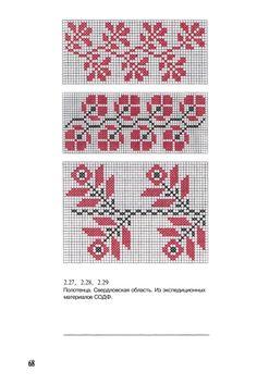 View album on Yandex. Cross Stitch Borders, Cross Stitching, Cross Stitch Embroidery, Cross Stitch Patterns, Loom Beading, Beading Patterns, Knitting Charts, Red Pattern, Filet Crochet