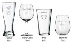 Make Your Own - Wedding Toasting Glasses - Birthday Gifts - Anniversary Present - Wedding Shower - Sports - Game Day - Football - Birthday - Cheer - Wedding Favors - Bridal Shower => Check this awesome image  : Handmade Gifts