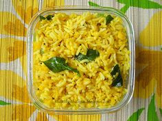 ARISIYUM PARUPPUM SADHAM  Just one of thirty-two rice recipes on this blog site!