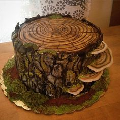 Top 10 Best Cake Artists in the World - Fancy Cake Cakes To Make, Fancy Cakes, How To Make Cake, Beautiful Cakes, Amazing Cakes, Tree Stump Cake, Cupcake Cakes, Cupcakes, Wedding Cake Prices