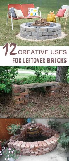 Awesome things to do with old bricks! Awesome things to do with old bricks! Awesome things to do with old bricks! Brick Projects, Diy Garden Projects, Outdoor Projects, Creative Garden Ideas, Brick Crafts, Brick Garden, Wooden Garden, Garden Deco, Herb Garden