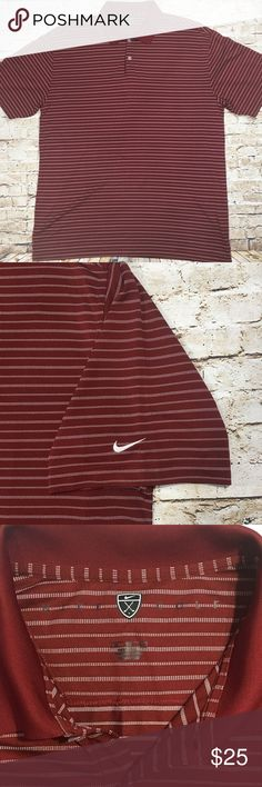 """Nike Golf Striped Golf Polo XL Nike Golf striped, textured golf polo.  No rips.  No stains.  No tears.    My goal is to make sure that you are satisfied with your purchase.  Please review the following measurements to help ensure proper fit upon arrival of your new shirt.   Width (armpit to armpit): 24""""  Length: 31""""  @themanlook is dedicated to finding a new home for quality, pre-owned clothing.  Thank you for taking a look at my listing!  Check back often as we are always adding new items…"""