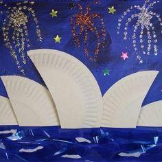 Paper Plate Crafts 486670303463954427 - Sydney Opera House Craft – Thinking Day – Australia Source by solenepa Australia For Kids, Australia Crafts, Sydney Australia, Around The World Theme, We Are The World, Around The World Crafts For Kids, Paper Plate Crafts, Paper Plates, Kunst Der Aborigines