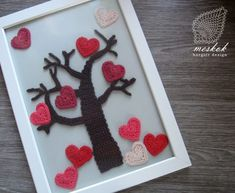 Holidays, Decoration, Heart, Crochet, Frame, Ideas, Home Decor, Decor, Picture Frame