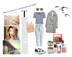 """""""Beach Walk"""" by silly-stegosaurus ❤ liked on Polyvore featuring Topshop, Zara, H&M, Urban Decay, Joshua's, Hourglass Cosmetics, NARS Cosmetics, Estée Lauder, Maybelline and Fendi"""