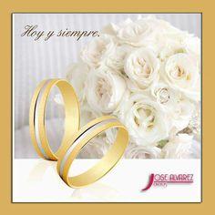 Oro blanco y oro amarillo,  combinación perfecta.