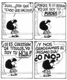 Quino – Mafalda – Graduación de madres