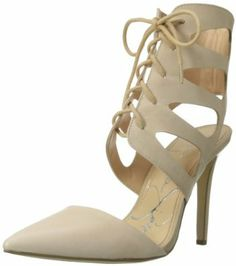 732adb30a46b Jessica Simpson Women s Cecerre Dress Pump Leather Manmade sole Heel  measures approximately 4