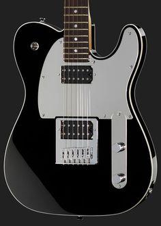 Fender Squier John5 Signature Telecaster - electric guitar, alder body, maple neck, rosewood fretboard, 22 frets, chrome hardware, thomann 2x custom designed humbucker pickups. chrome pickguard, Colour: Black