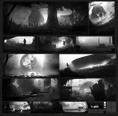 ArtStation - Compo Bw, Mark Kolobaev   ☽Н∅ЧИ☾  ♱ⅅ℧SKⅢ♱