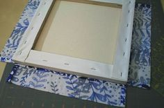 How to cover a canvas with a quilted block