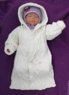 Картинки по запросу вязание кокона для новорожденного спицами