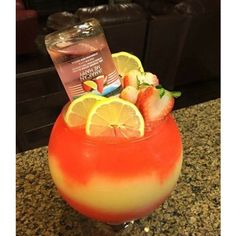 This refreshing cocktail comes together with Seagram's Escapes Jamaican Me Happy, fresh fruit, and a tasty garnish! Candy Drinks, Liquor Drinks, Cocktail Drinks, Fun Drinks, Yummy Drinks, Cocktails, Beverages, Mixed Drinks, Alcholic Drinks