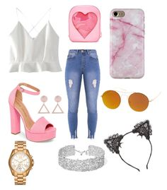 """""""bad and boujee"""" by elizabethrtuttle on Polyvore featuring WithChic, Lipsy, Chinese Laundry, SW Global, True Craft, DANNIJO and Michael Kors"""
