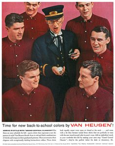 Van Heusen Shirts advertisement from The Saturday Evening Post magazine, 14th September, 1957. by totallymystified, via Flickr