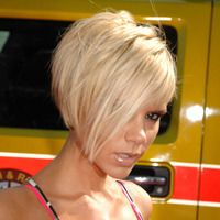 Straight short blonde - Victoria Beckham hairstyles from ghd