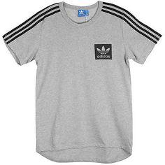 Adidas Street Essentials Tee Mens AJ8067 Grey Cotton Crewneck T-Shirt Size S