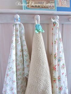 Tea towels/shabby roses cottage blog