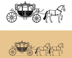 Find cinderella coach stock images in HD and millions of other royalty-free stock photos, illustrations and vectors in the Shutterstock collection. Bullock Cart, Cinderella Coach, Horse Wagon, Horse Illustration, Horse And Buggy, Horse Carriage, Logo Design, Graphic Design, Anatomy Drawing