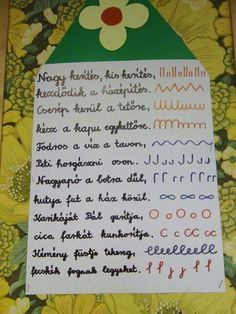 Betűelemek vers Grammar, Back To School, Diy And Crafts, Preschool, Lily, Classroom, Teacher, Education, Children