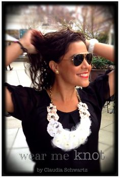 Accessories. Fabric Necklaces. Wear me knot by Claudia Schwartz