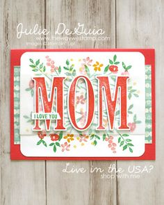 More Mother's Day Card Inspiration for Global Design Project 085 - Number of Years and Letters for You by Stampin' Up! | Handmade Cards | The Way We Stamp | Mother's Day DIY