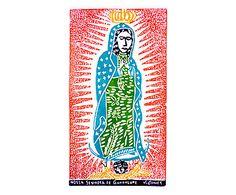 Xilogravura Nossa Senhora de Guadalupe - 47X65cm