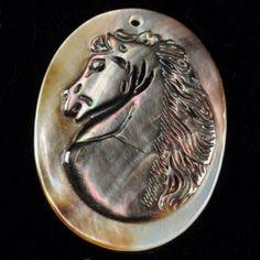 Kamej z perleti s motivem koně, VÝPRODEJ!!