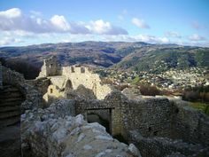 Crussol Castle, Ardèche, Rhône-Alpes, France Photo by Ayuna Skol Ofenstrü (January 2013) #ruines #chateau