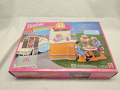 1994 Barbie Mcdonalds restaurant with talking drive-Thru Mcdonald's Restaurant, Mcdonalds, Childhood Memories, Lunch Box, Barbie, Ebay, Bento Box, Barbie Dolls