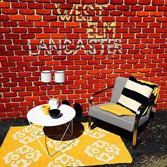 This is how we do in Lanc Lanc! #westelmoutlet #westelm #pennsylvania #lancaster #lancasterpa #chalk #graffiti #rugs #chair #interiordesign #exteriordesign