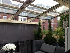 Afbeeldingsresultaat voor veranda met glazen schuifdak