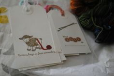 Gift tags from Shabby Sheep lys