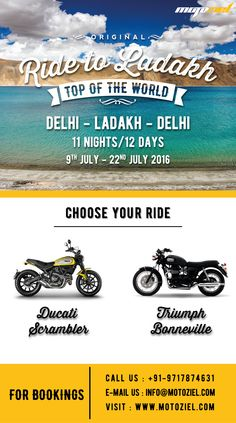 It's time to tick off exploring Leh-Ladakh on your motorcycle from your bucket list! Join us on a once-in-a-lifetime adventure this July and experience the cold desert at its best!  #BeyondMotorcycling #travel #ladakh #ladakhtours #ladakhtrip #motocycletours