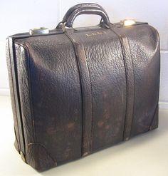 Vintage Briefcase Brown Leather Briefcase Hipster Style Dresner Gladiator #Dresner #Satchel #Business