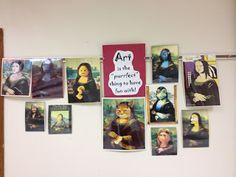 Splats, Scraps and Glue Blobs: It's Kindergarten Mona Lisa Time!