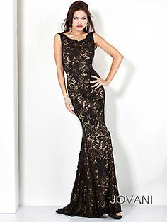 Lace Fitted Gown, Style 71397