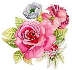 Decoupage Vintage, Decoupage Paper, Vintage Diy, Botanical Flowers, Botanical Prints, Art Floral, Gulab Flower, Flower Prints, Flower Art