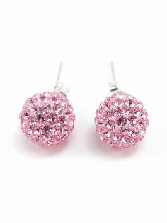 Sterling Silver Rhinestone Stud Earrings - $18.00 : FashionCupcake, Designer Clothing, Accessories, and Gifts