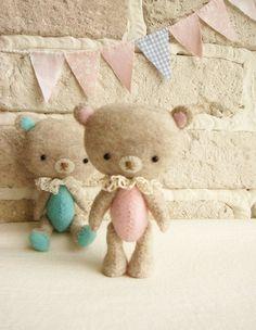Pocket Bear Miniature Soft Toy Handmade by sistersdreams on Etsy, £16.00